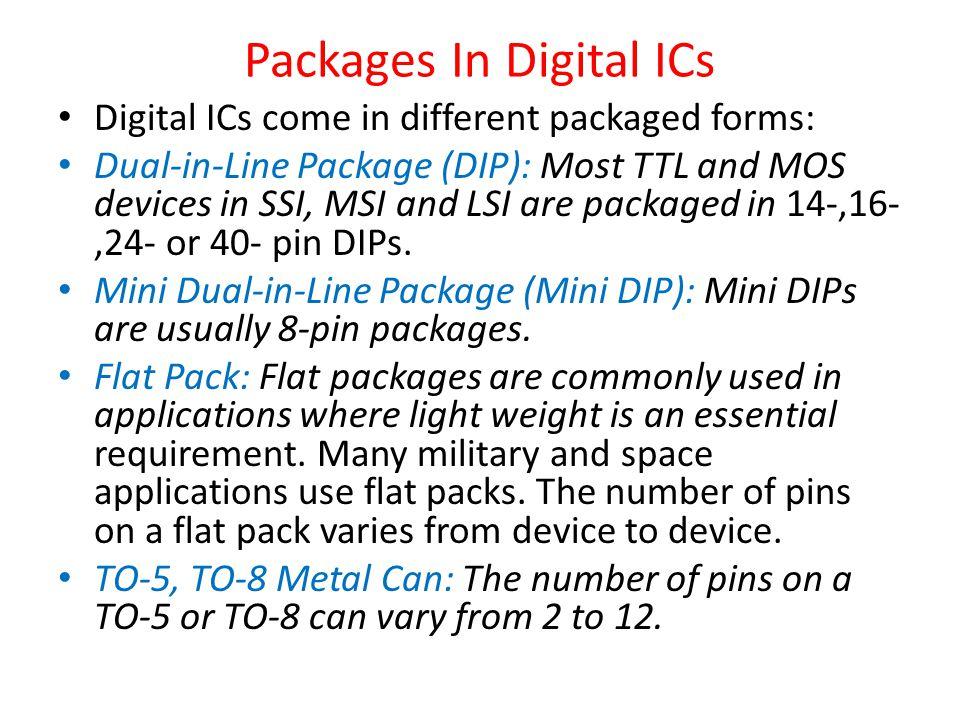 Packages In Digital ICs