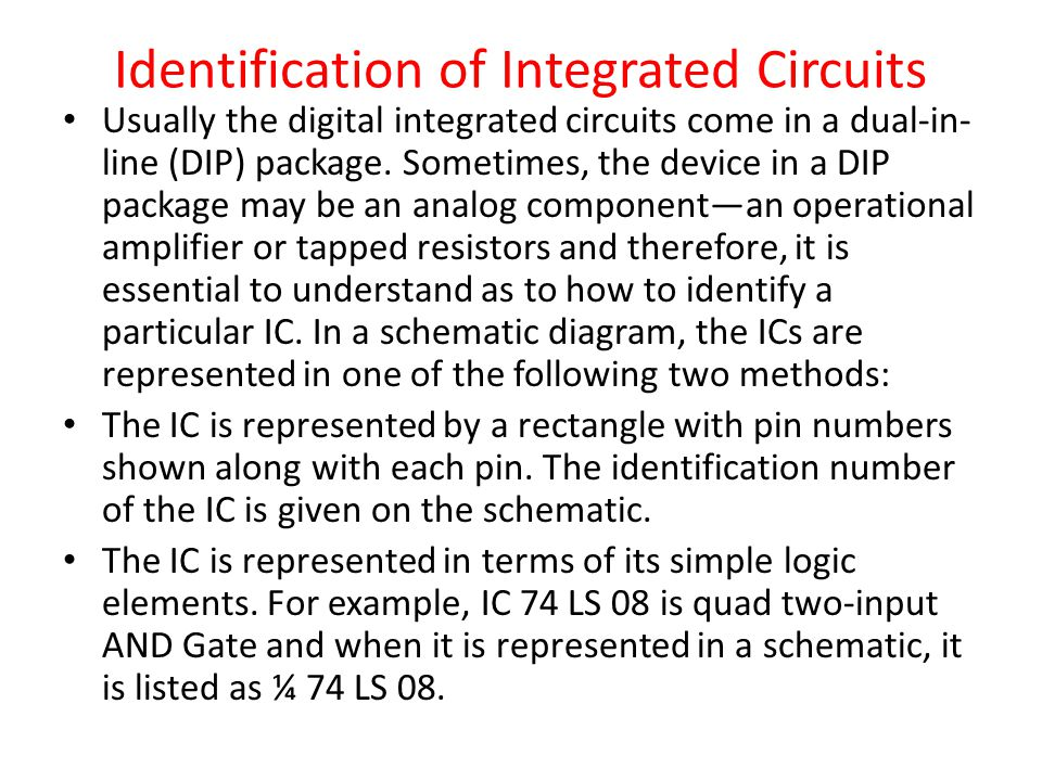 Identification of Integrated Circuits