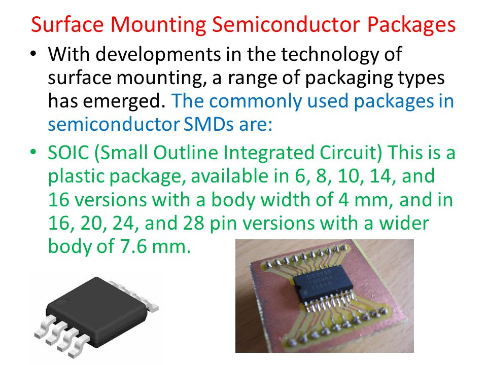 Surface Mounting Semiconductor Packages