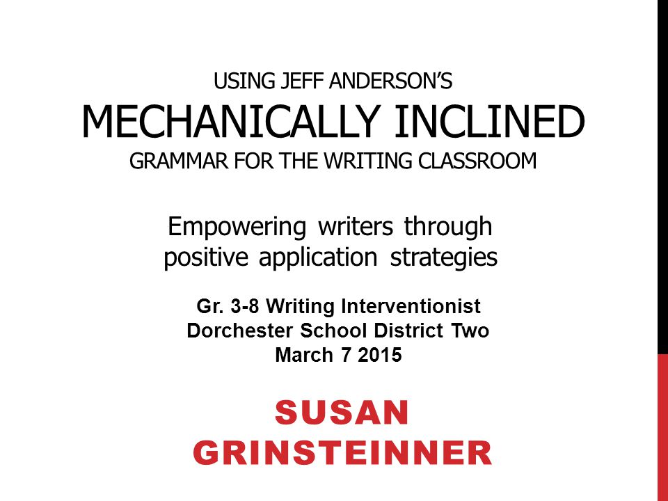 Gr. 3-8 Writing Interventionist Dorchester School District Two