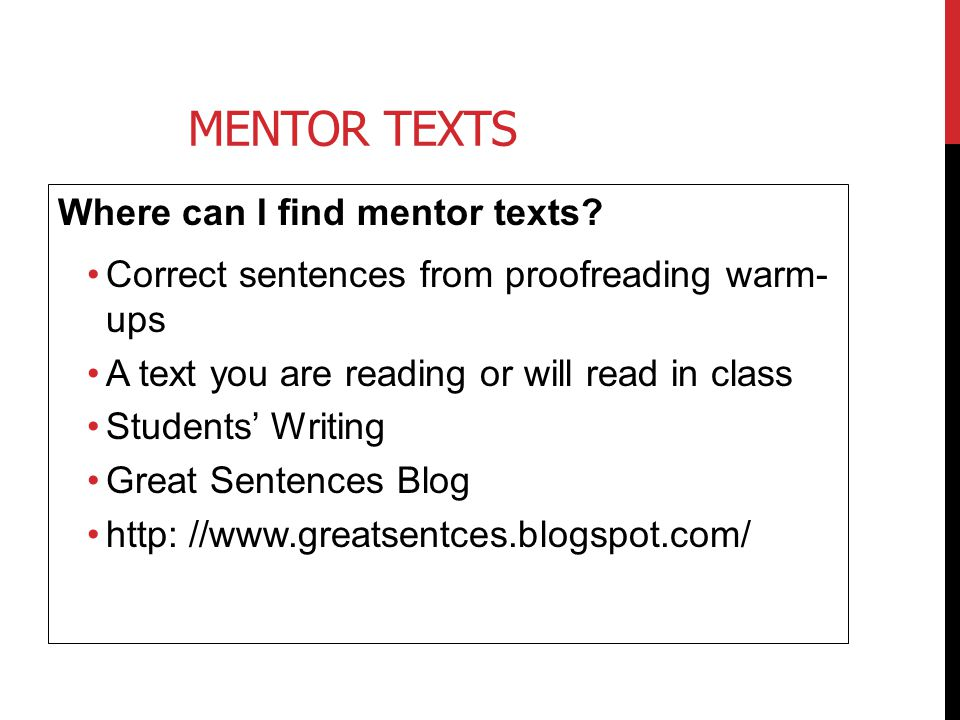 Mentor Texts Where can I find mentor texts