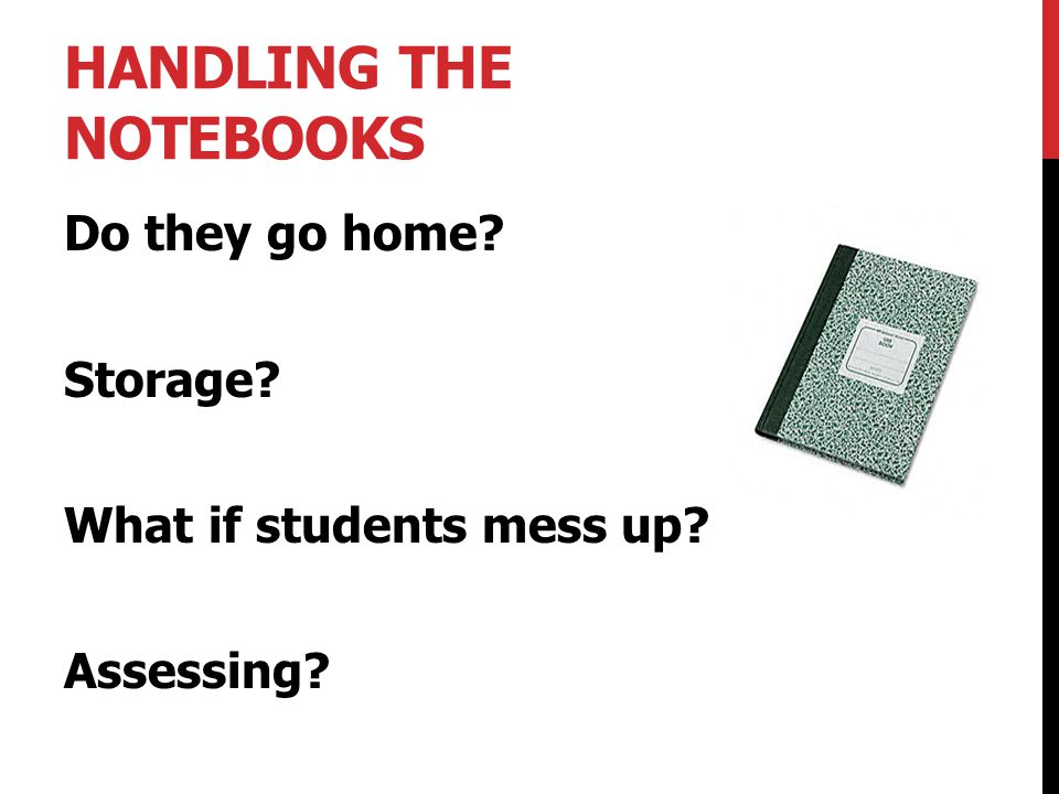 Handling the Notebooks