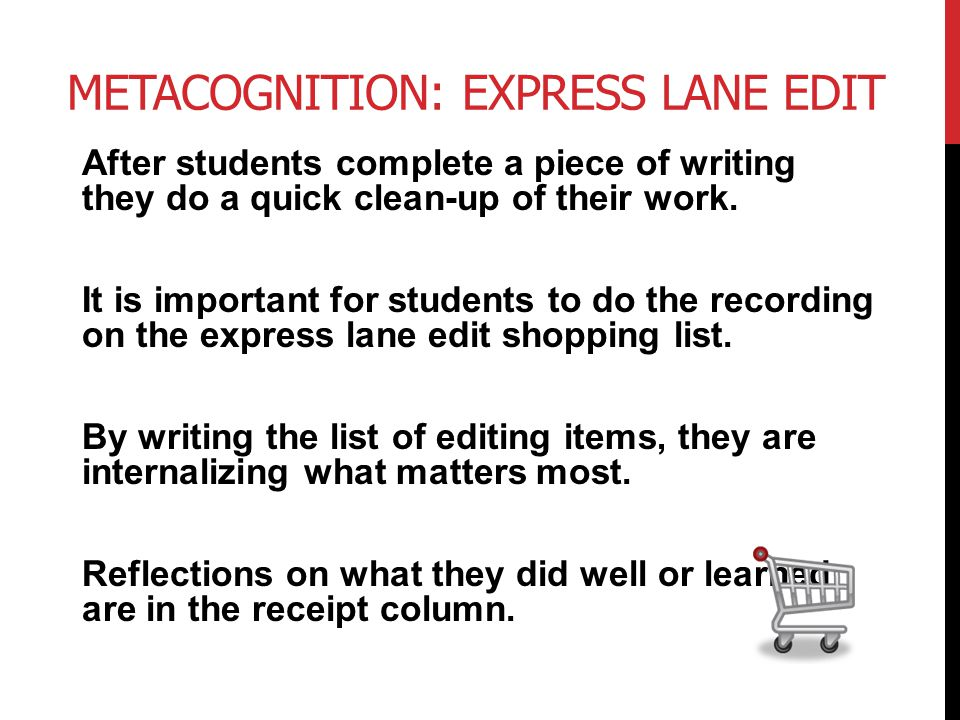 Metacognition: Express Lane Edit