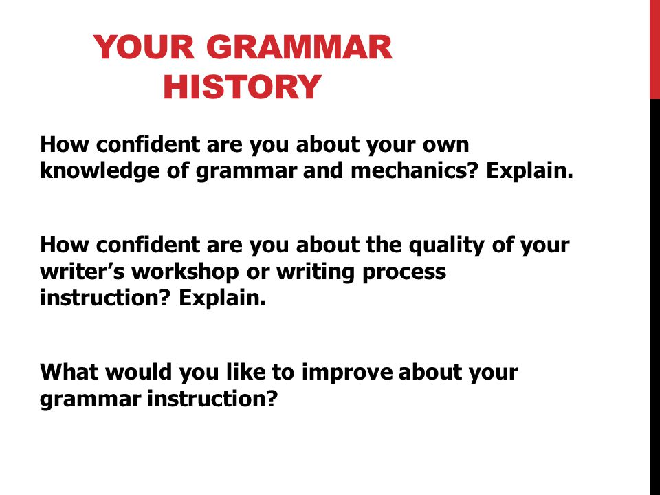 Your Grammar History