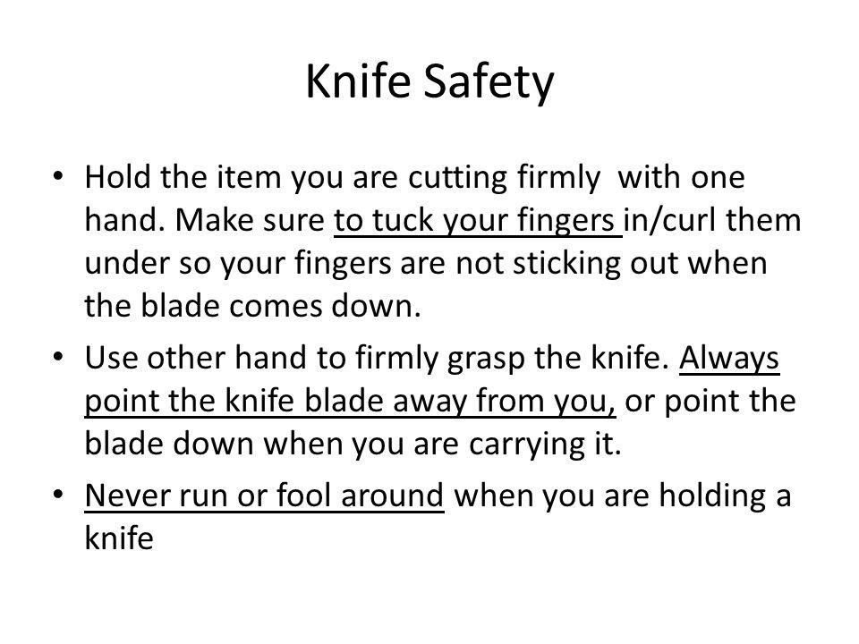 Knife Safety