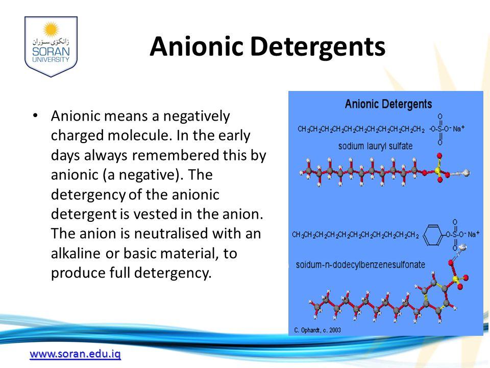 Anionic Detergents