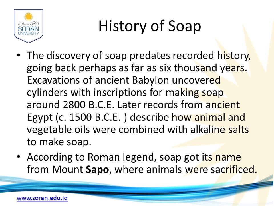 History of Soap