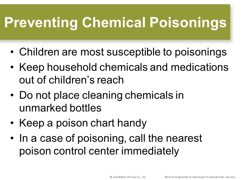 Preventing Chemical Poisonings