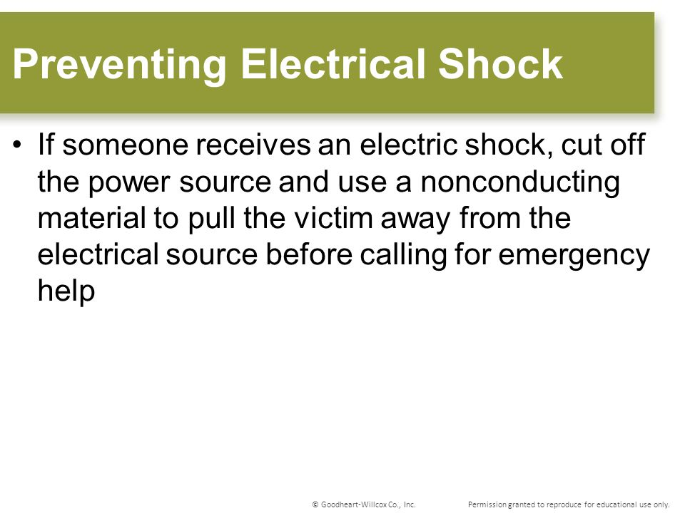 Preventing Electrical Shock