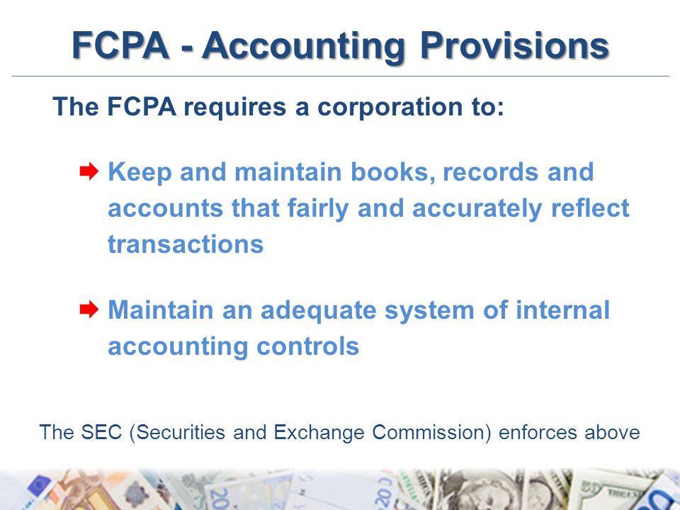 FCPA - Accounting Provisions