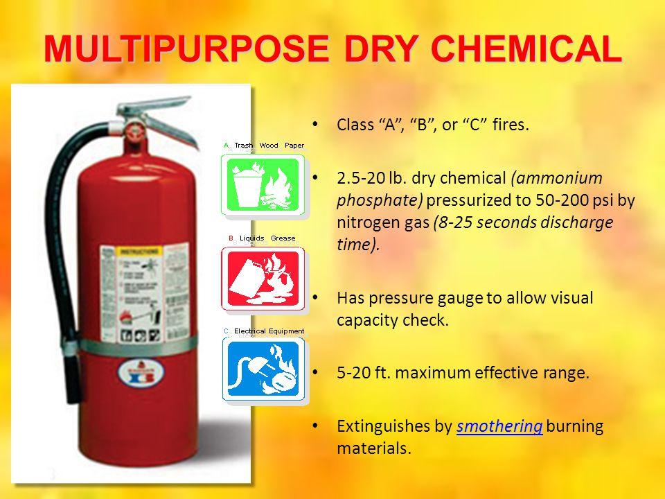 MULTIPURPOSE DRY CHEMICAL