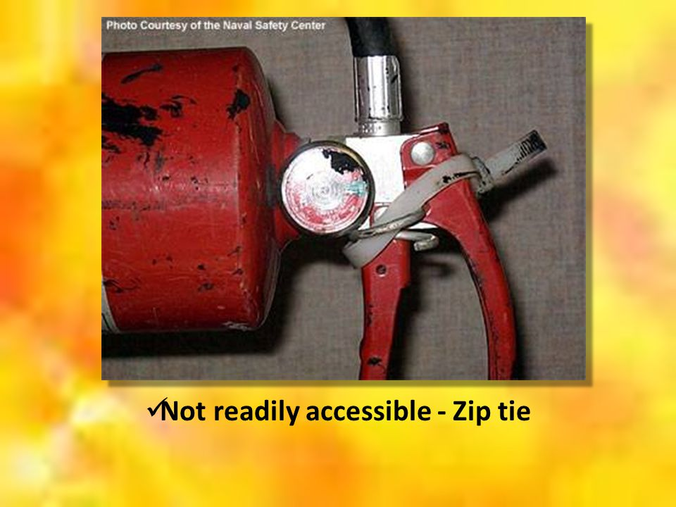 Not readily accessible - Zip tie
