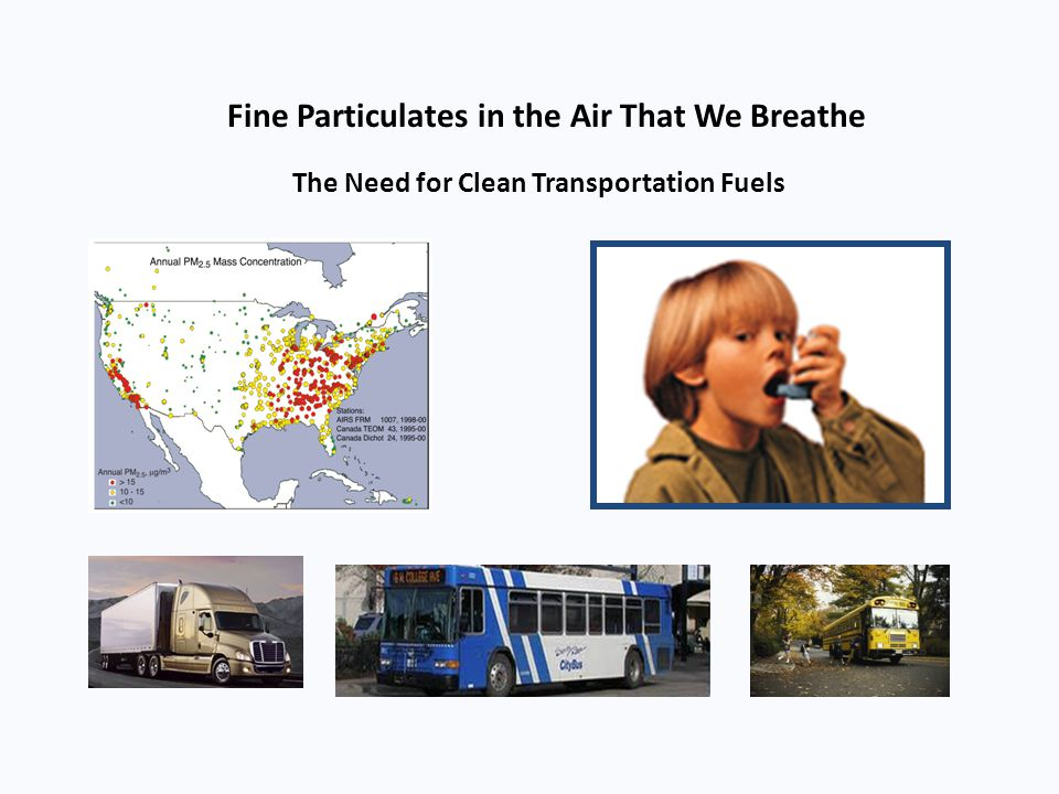Fine Particulates in the Air That We Breathe