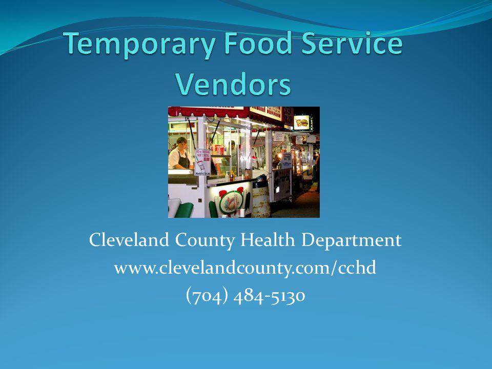 Temporary Food Service Vendors