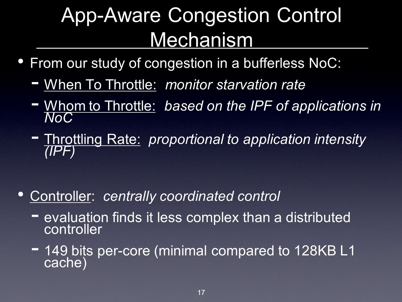 App-Aware Congestion Control Mechanism