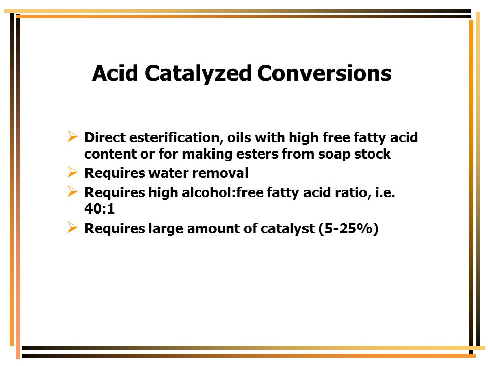 Acid Catalyzed Conversions
