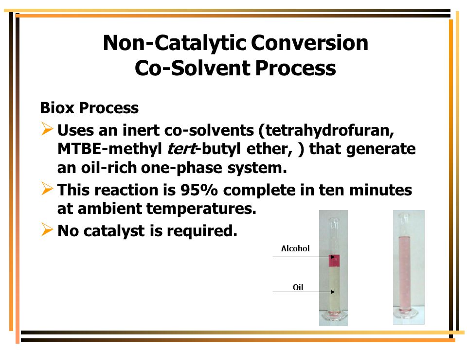 Non-Catalytic Conversion Co-Solvent Process