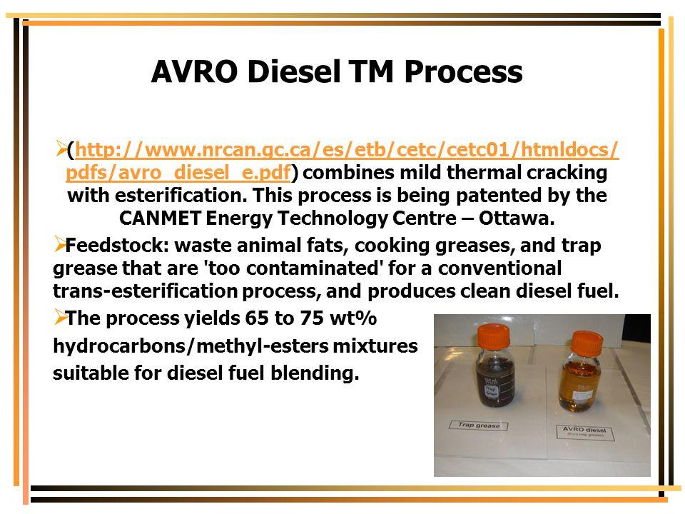 AVRO Diesel TM Process