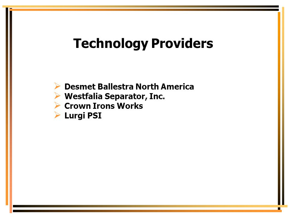 Technology Providers Desmet Ballestra North America