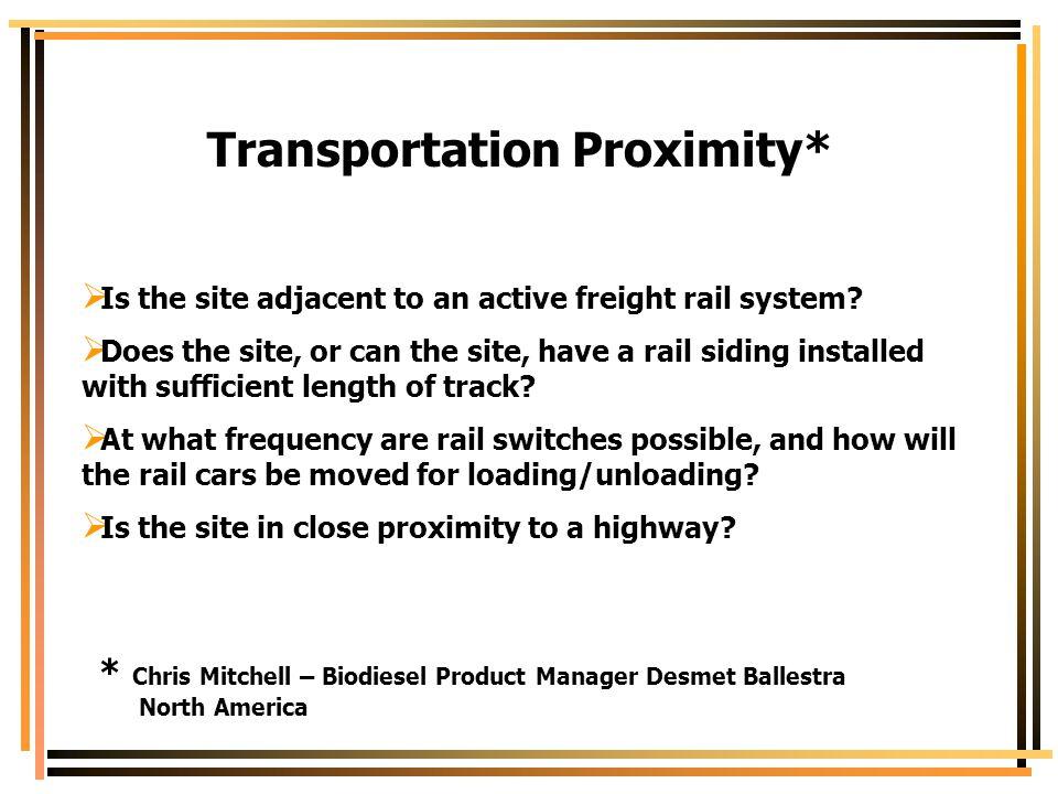 Transportation Proximity*