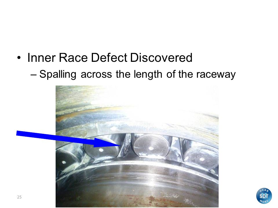 Inner Race Defect Discovered