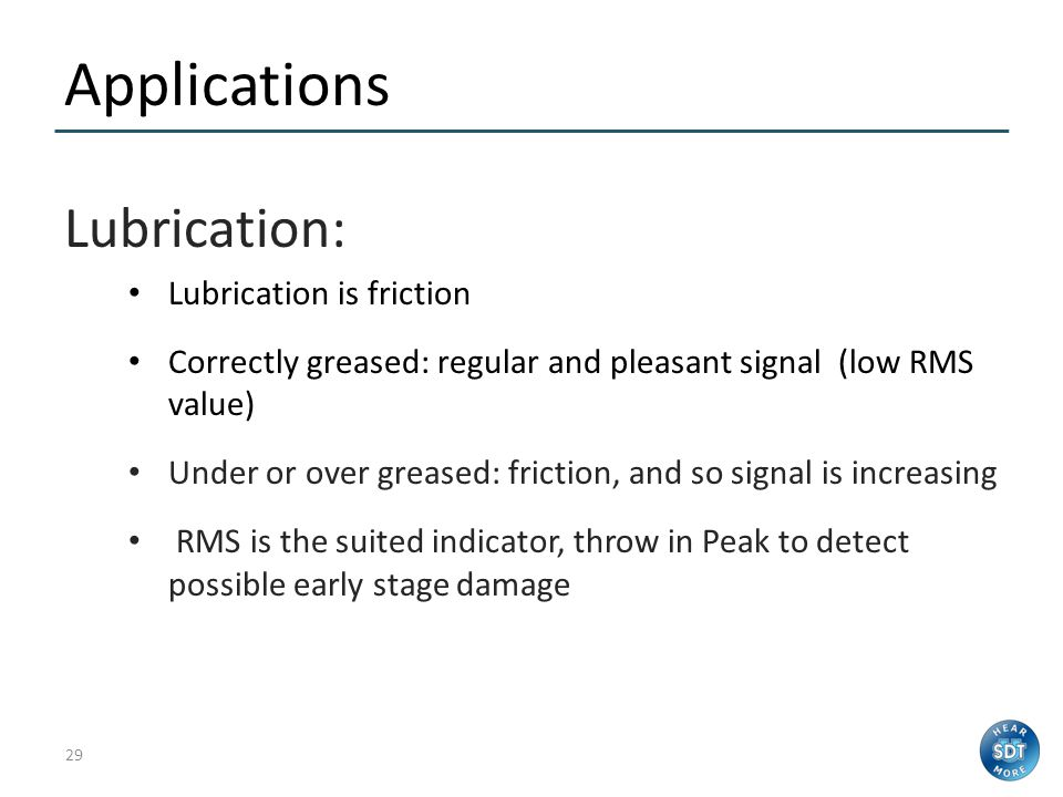 Applications Lubrication: Lubrication is friction