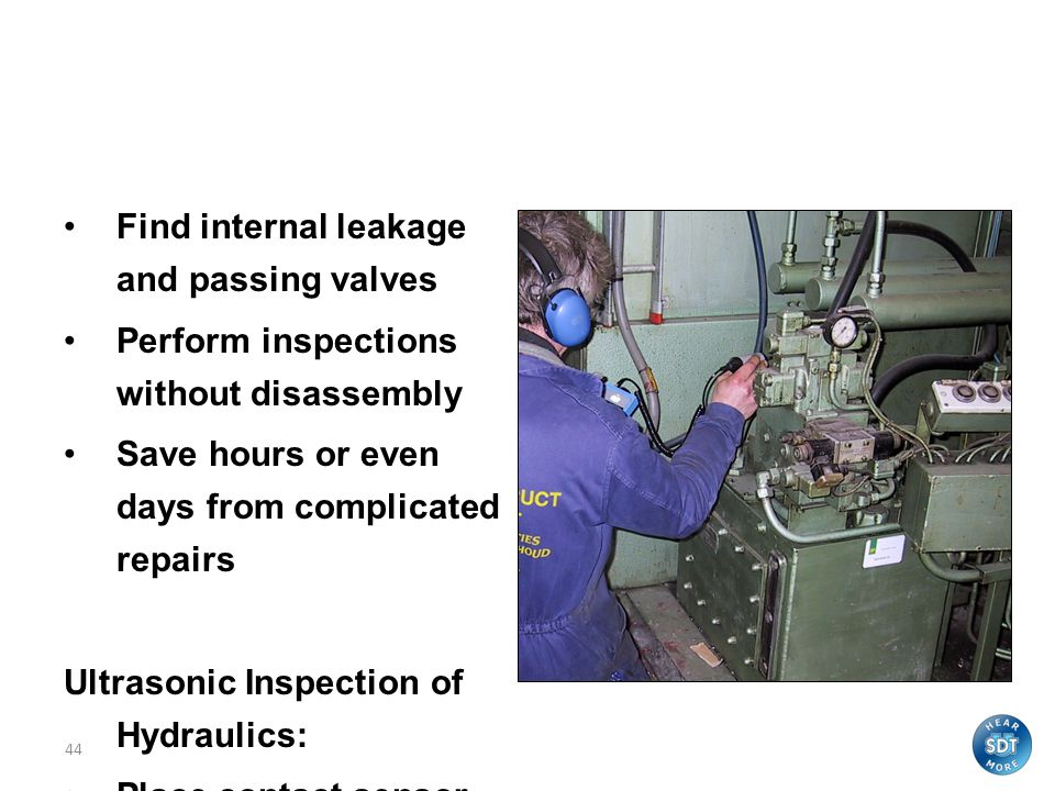 Valves and Hydraulics Find internal leakage and passing valves