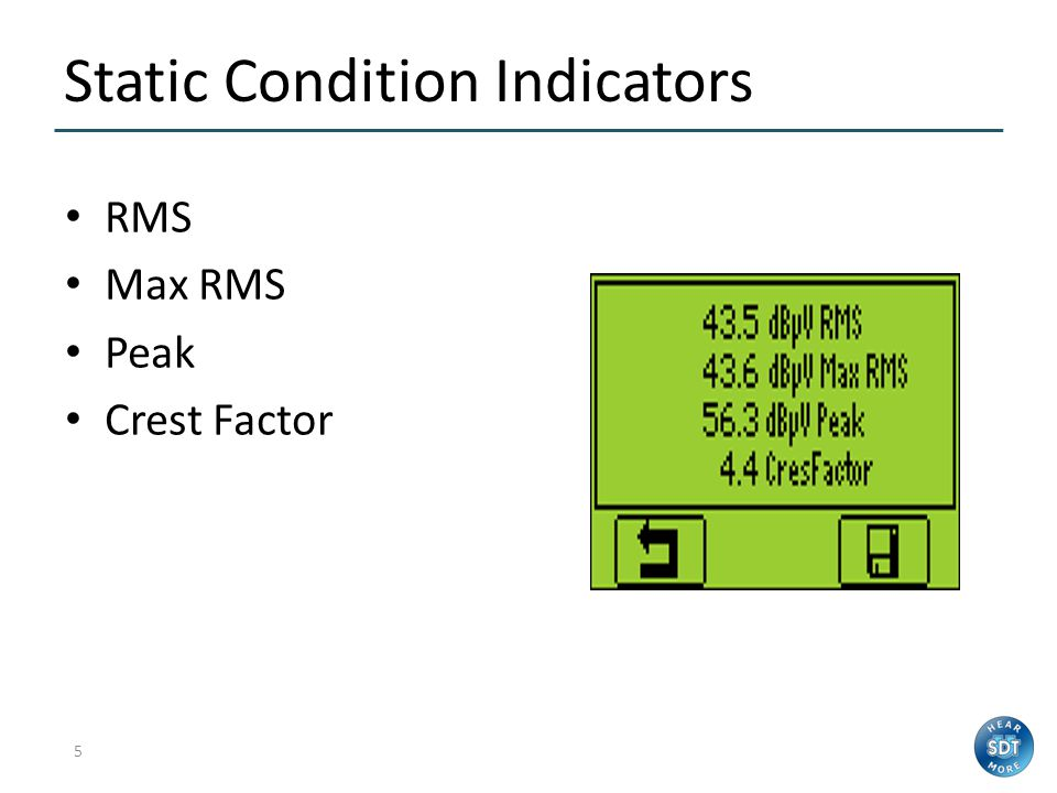 Static Condition Indicators
