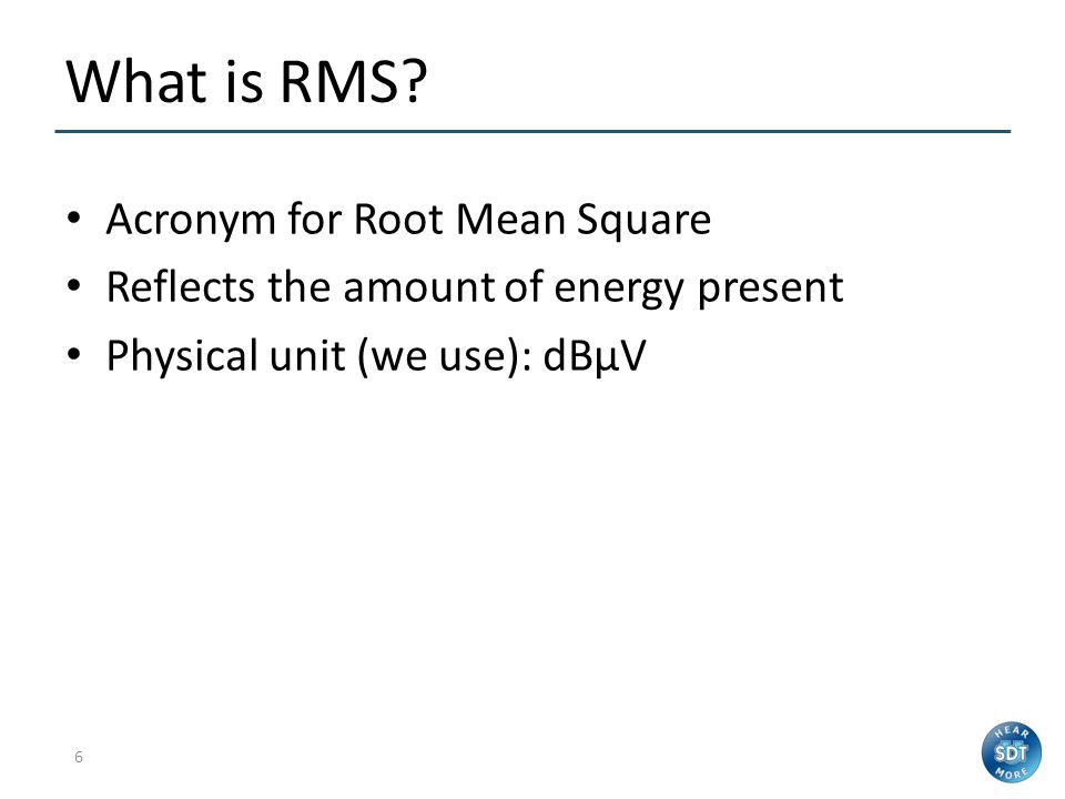 What is RMS Acronym for Root Mean Square