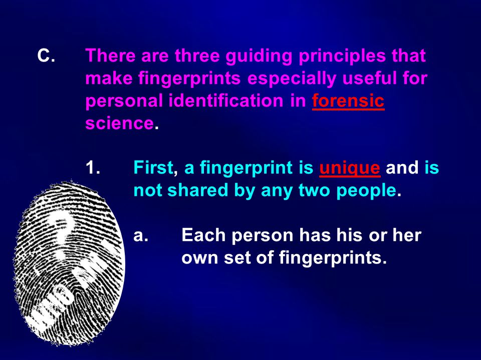C. There are three guiding principles that