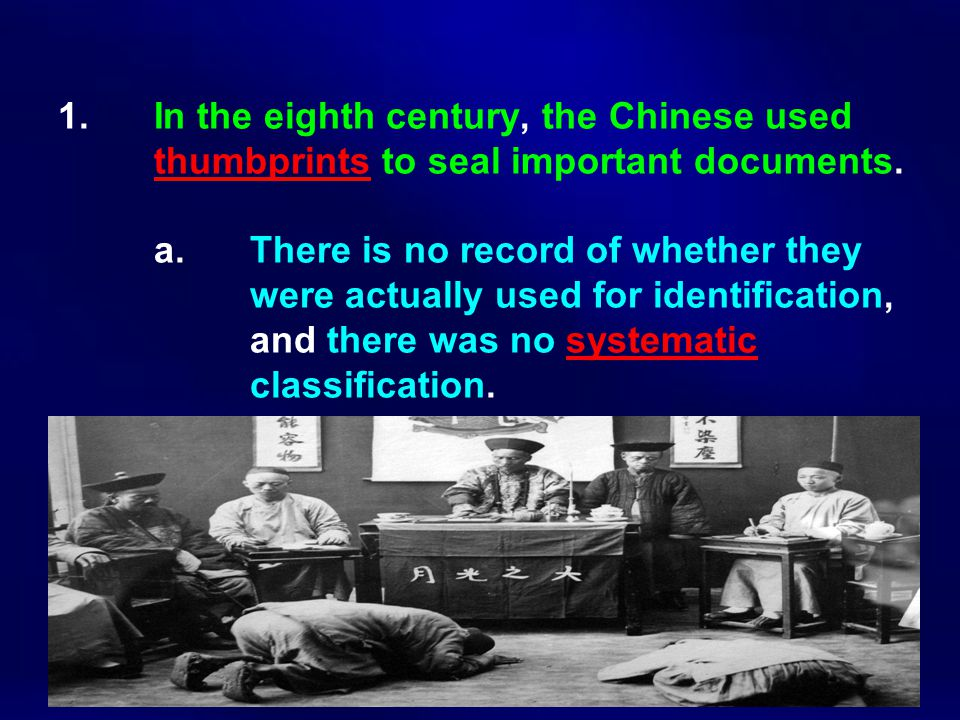 1. In the eighth century, the Chinese used