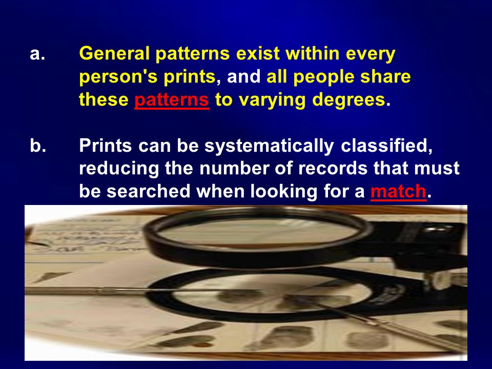 a. General patterns exist within every