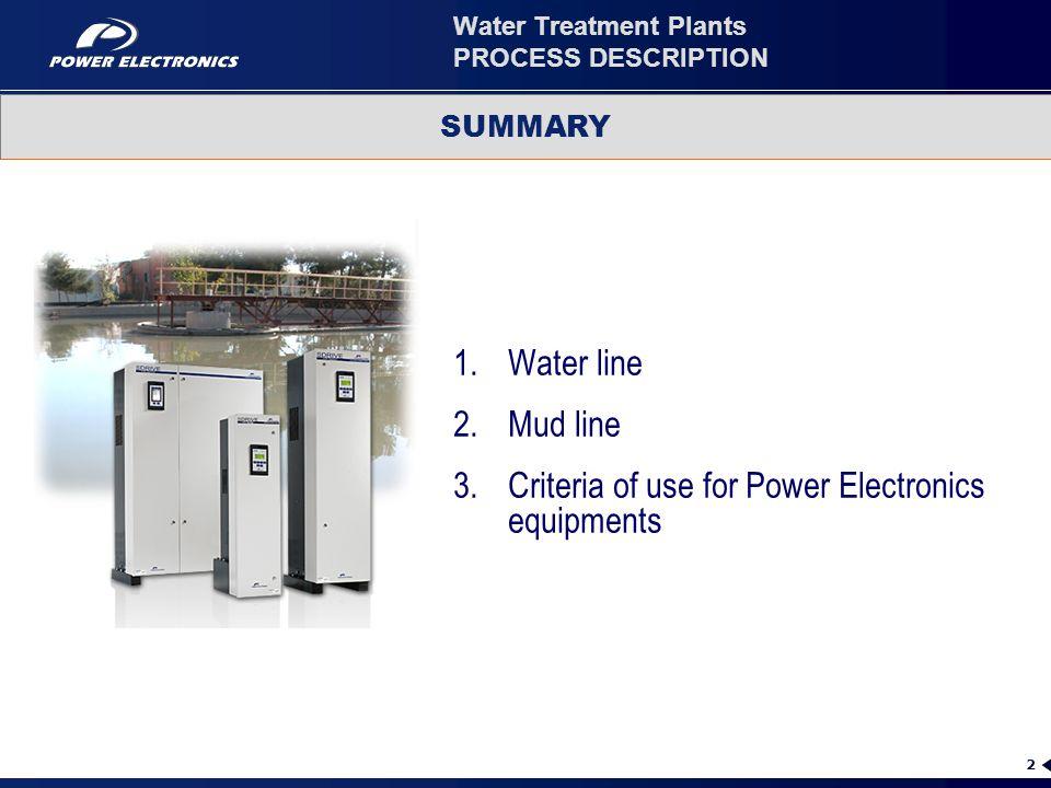 Water Treatment Plants PROCESS DESCRIPTION