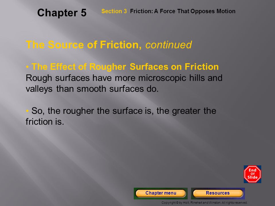 The Source of Friction, continued