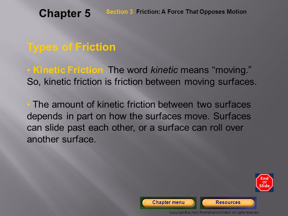 Chapter 5 Types of Friction