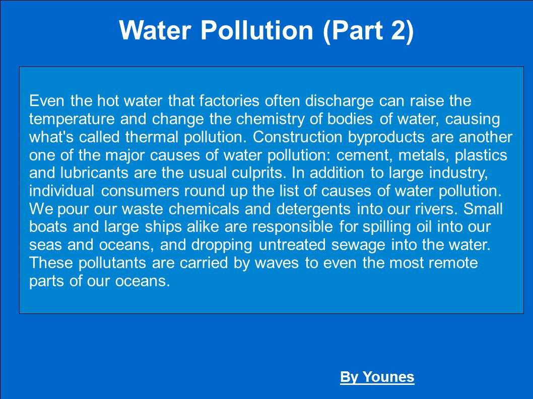 Water Pollution (Part 2)
