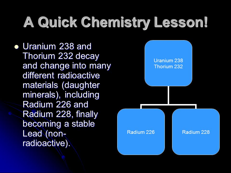 A Quick Chemistry Lesson!