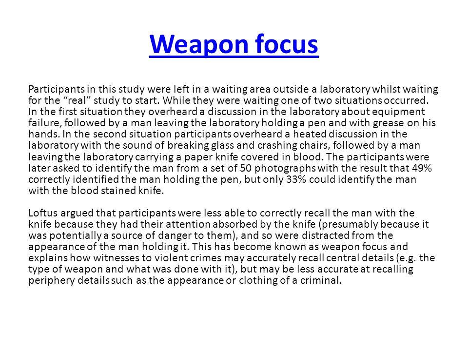 Weapon focus