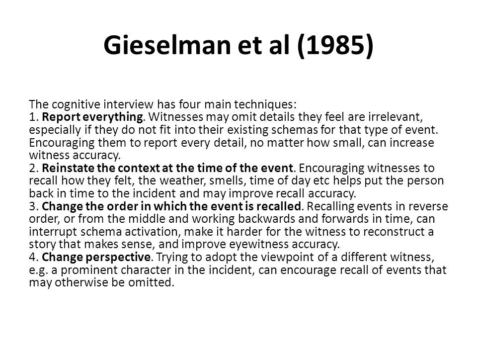 Gieselman et al (1985)