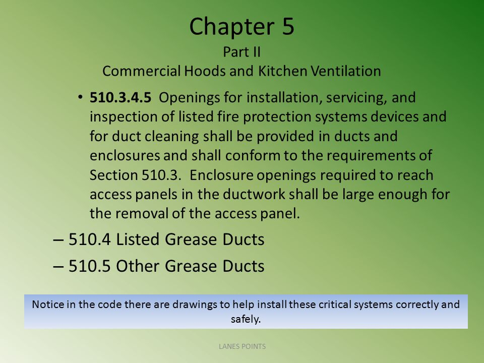 Chapter 5 Part II Commercial Hoods and Kitchen Ventilation
