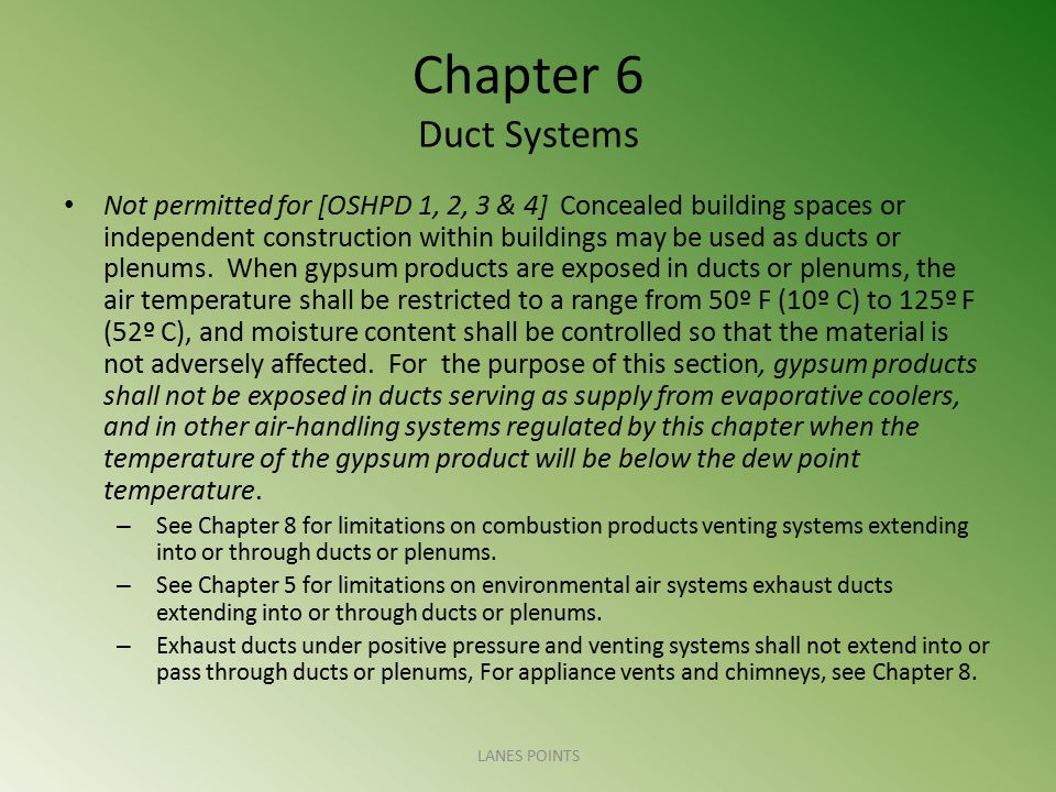 Chapter 6 Duct Systems