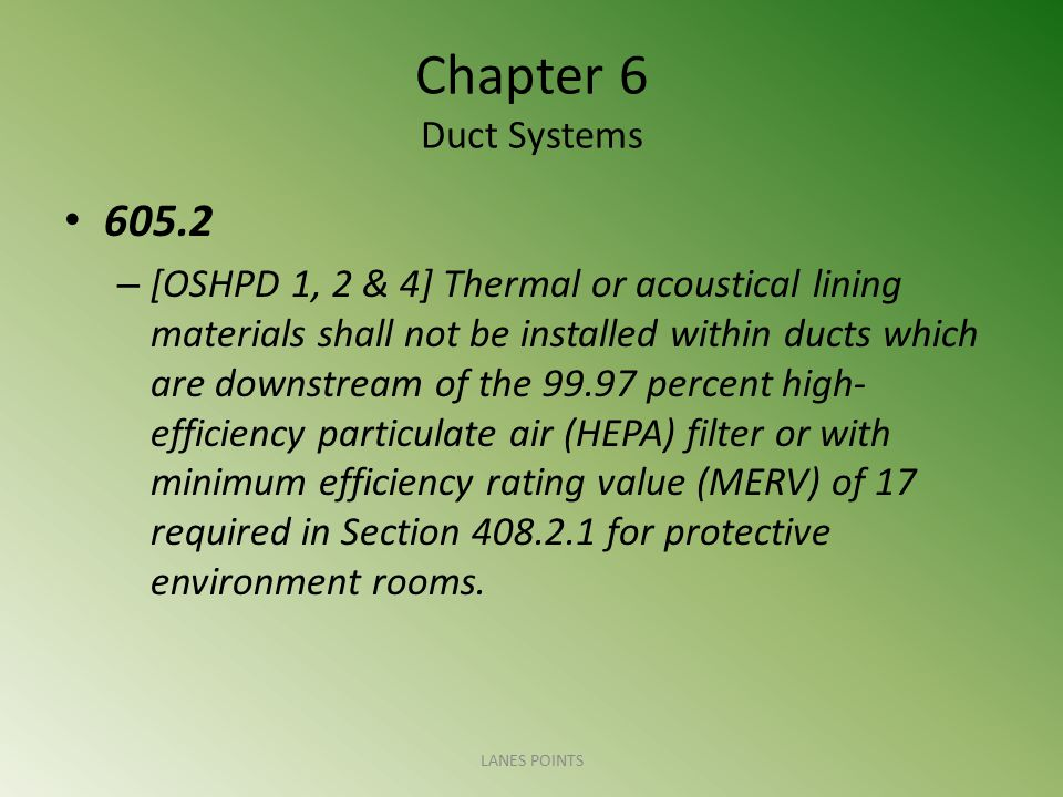 Chapter 6 Duct Systems 605.2.