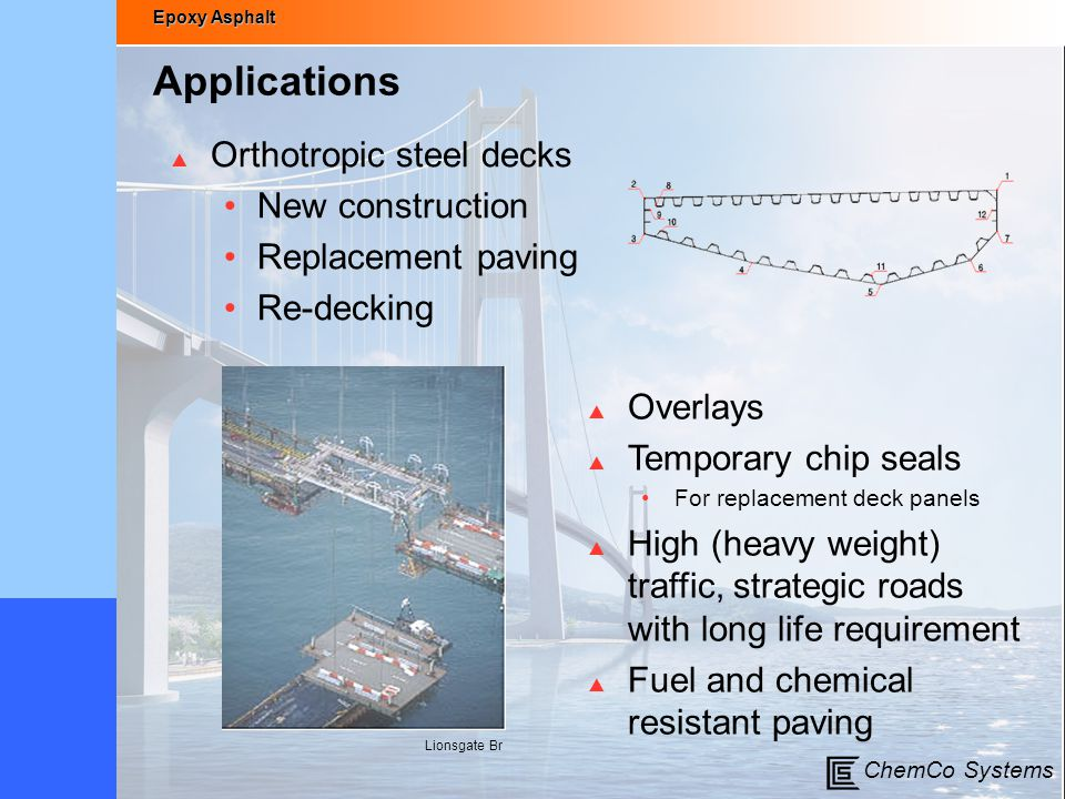 Applications Orthotropic steel decks New construction