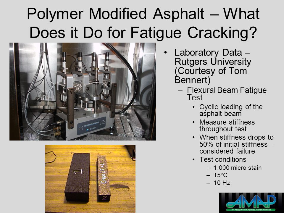 Polymer Modified Asphalt – What Does it Do for Fatigue Cracking