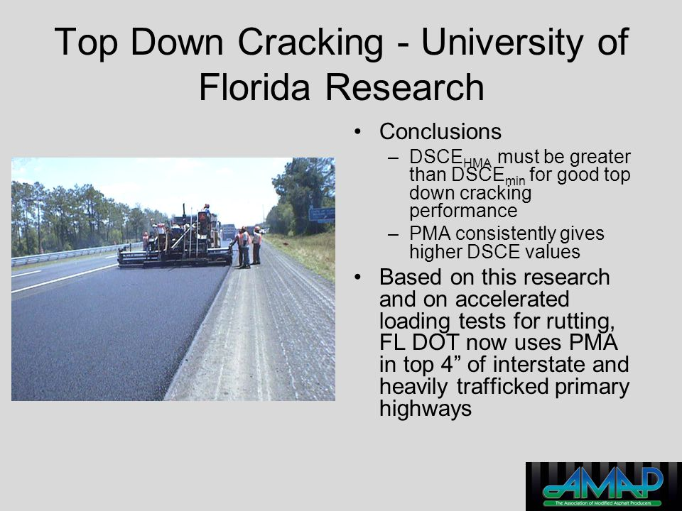 Top Down Cracking - University of Florida Research