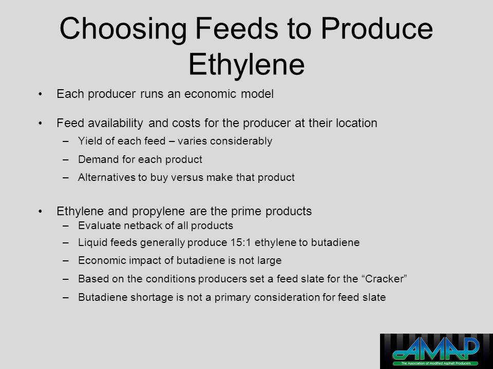 Choosing Feeds to Produce Ethylene