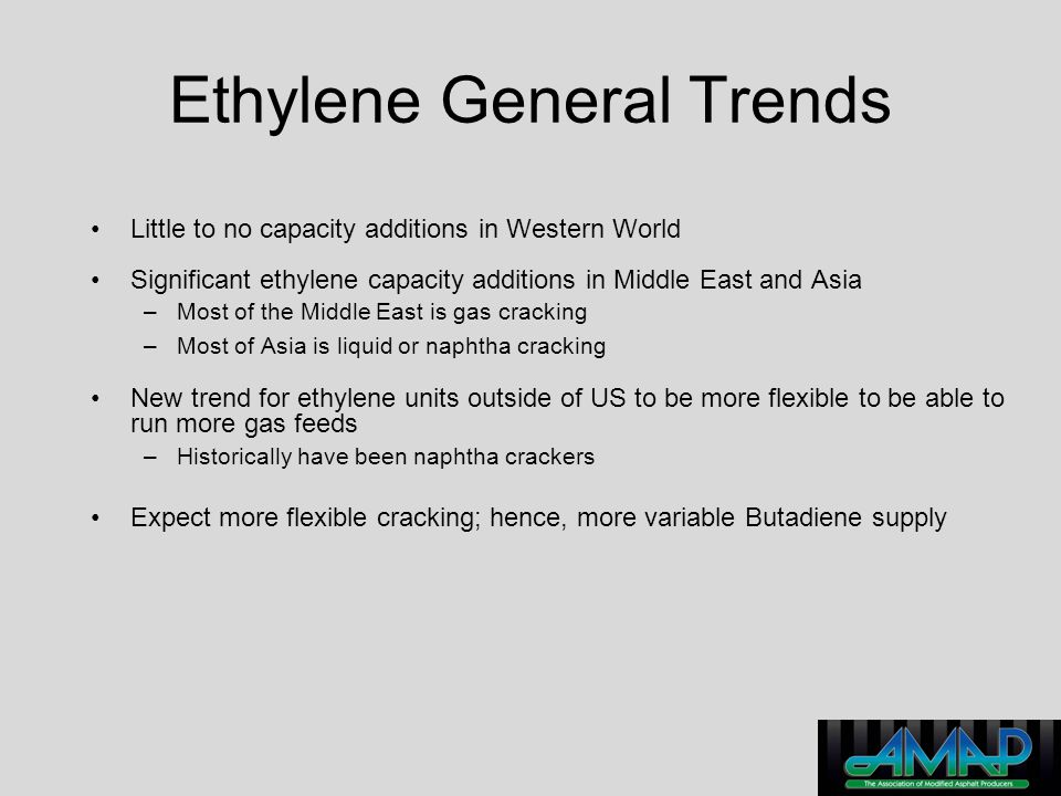 Ethylene General Trends