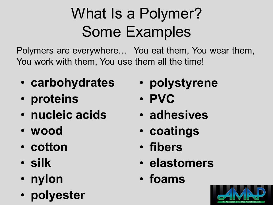 What Is a Polymer Some Examples