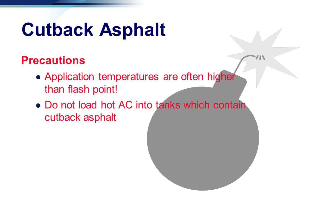 Cutback Asphalt Precautions