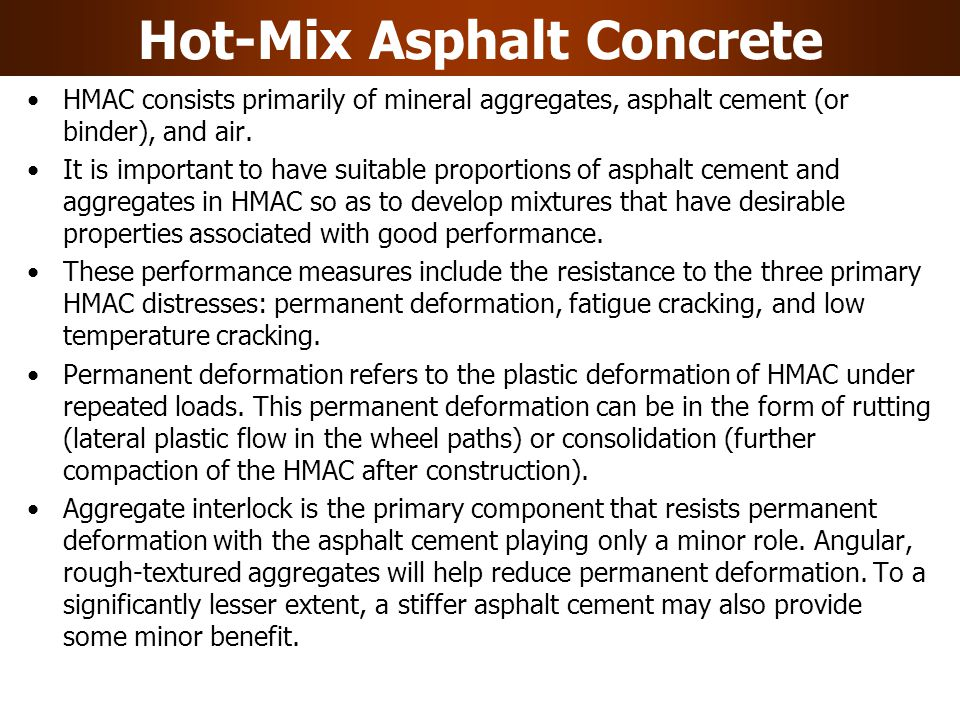 Hot-Mix Asphalt Concrete